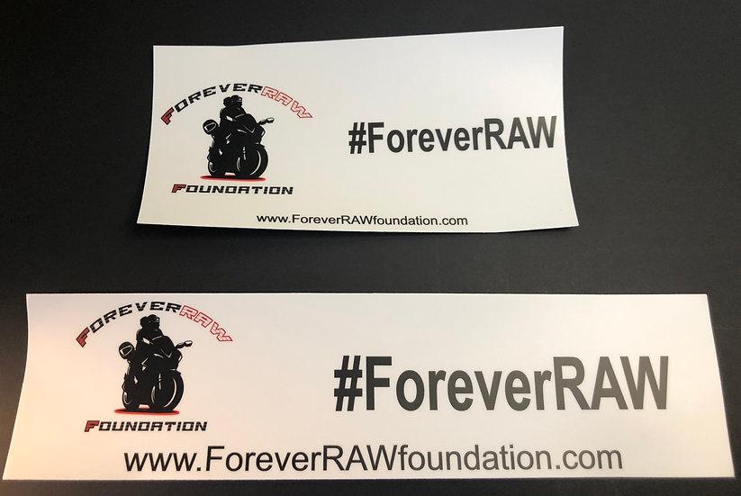 #ForeverRAW Bumper Sticker