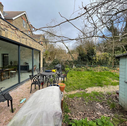 London Dulwich Rear Sloping Garden Design