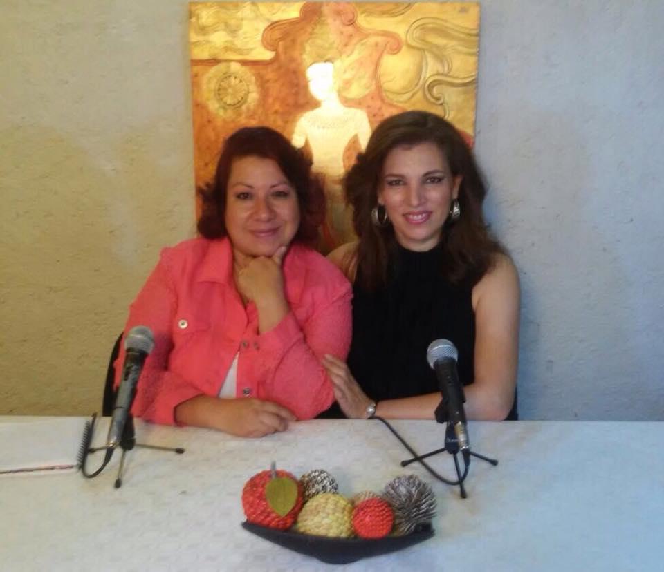 Ana Luz con Angie Escalante
