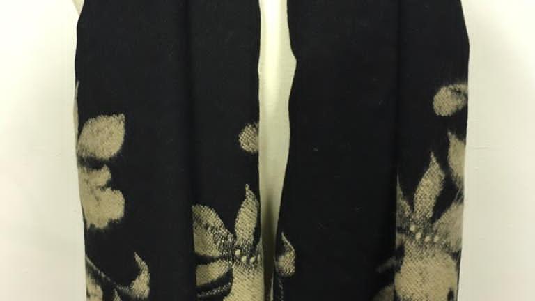 winterscarf noir/beige