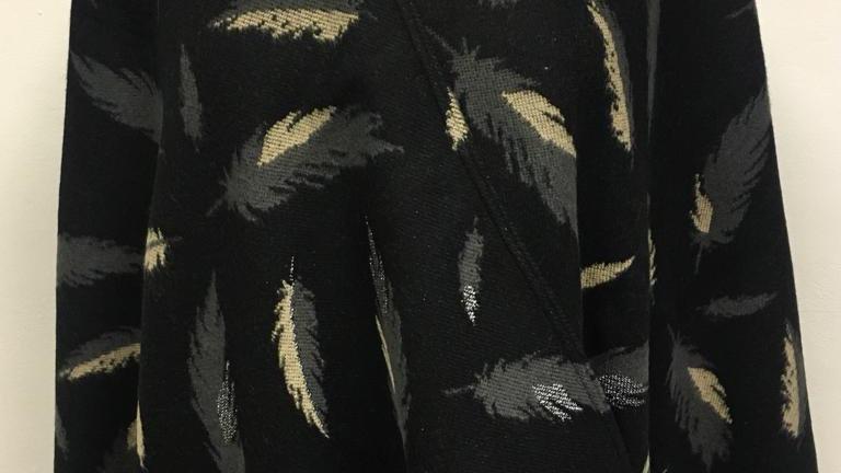 Poncho noir/beige