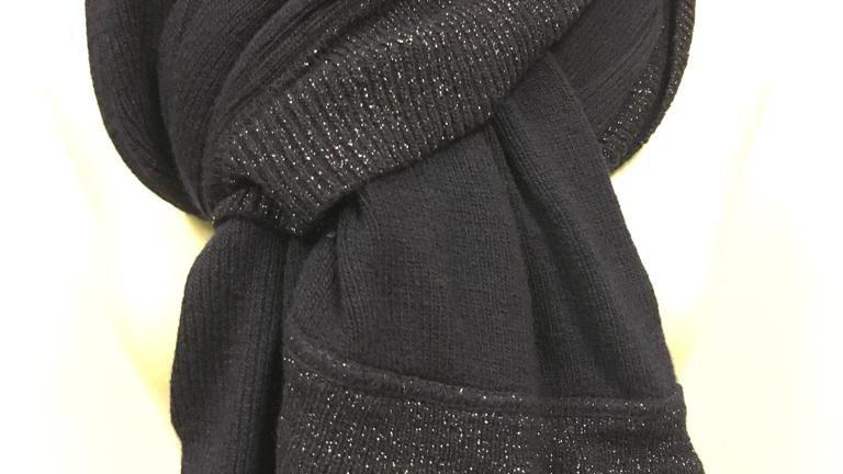 Winter scarf bleu marine