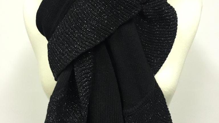 winter scarf noir