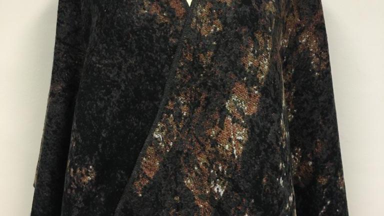 Poncho brun/noir