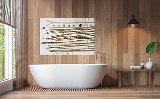 Organic and Earthy and Minimal Art in your Bathroom