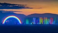 Rainbow Bridge & Hexatron At Dusk by Josh Zubkoff, Mark Lottor