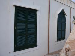 Persianas color verde Menorca