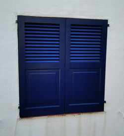 Persianas pequeñas color azul