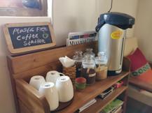 Plastic free coffee station