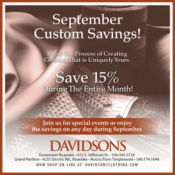 September is Custom Month - All month long!                          Check it out.