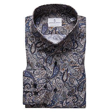 Emanuel Berg - Mr. Crown, Paisley Pattern Shirt