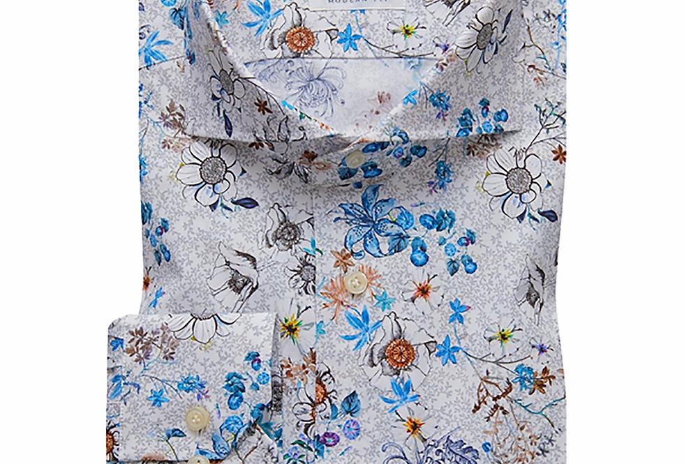 Emanuel Berg - Multicoluor Authorial Poplin Woven Shirt
