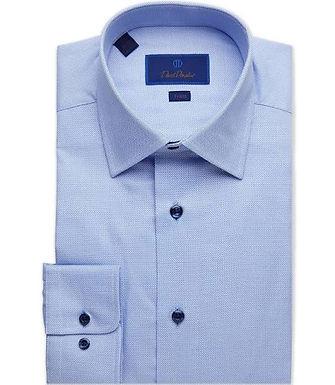 David Donahue - Textured Micro Dobby Dress Shirt