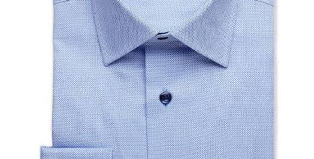David Donahue - Textured Micro Dobby Dress Shirt