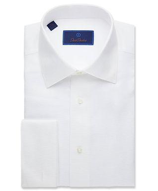 David Donahue - Horizontal Rib French Cuff Formal Shirt