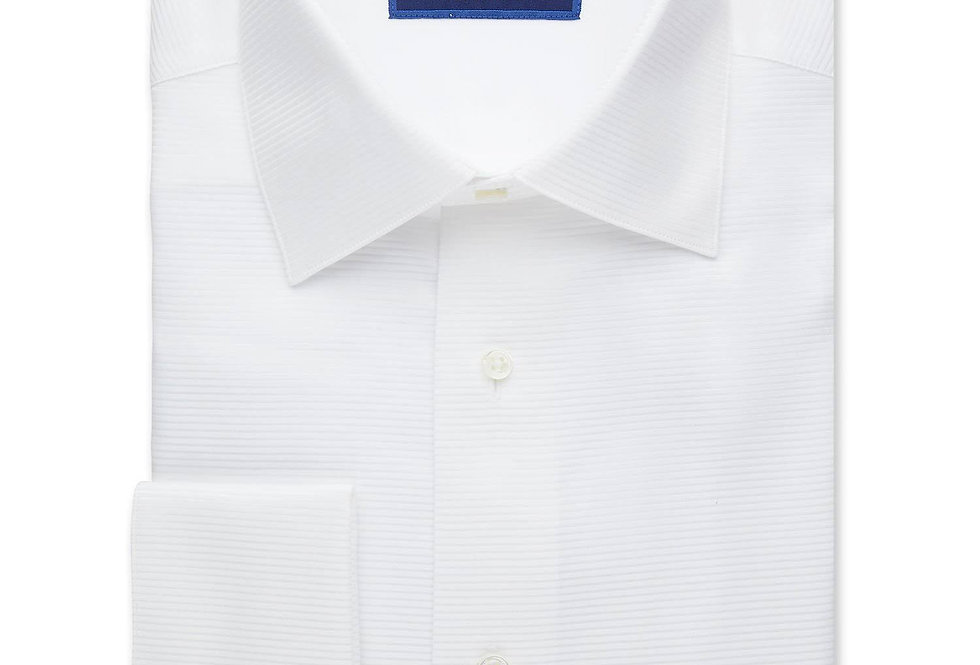 David Donahue - Horizontal Rib French Cuff Formal Shirt