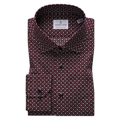 Emanuel Berg - Mr. Crown, Dot Pattern Shirt
