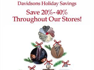 Davidsons Holiday Savings