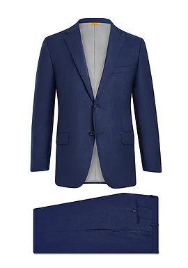 Hickey Freeman - Navy Sharkskin Suit: B Fit