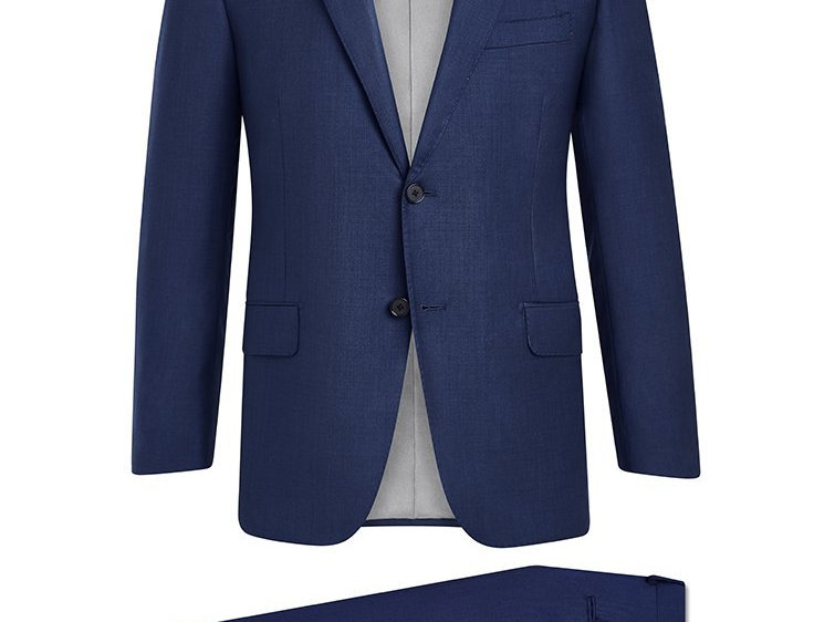 Hickey Freeman - Navy Sharkskin Suit: B Fit