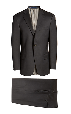 Hart Schaffner Marx -  Solid Stretch Wool Suit New York Fit