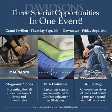 Three Trunk Shows in One to Kick off Fall - September 9th and 10th