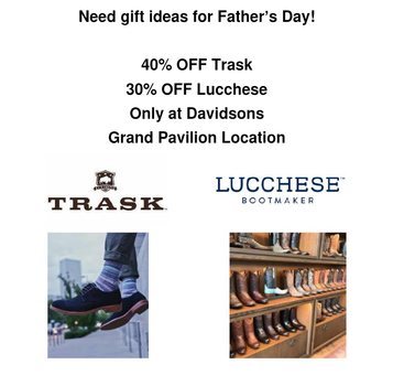 Lucchese Boot and Trask Shoe Sale for Father's Day