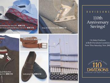 110th Anniversary Savings