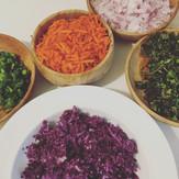 Rainbow Quinoa Salad with Ginger Peanut Sauce