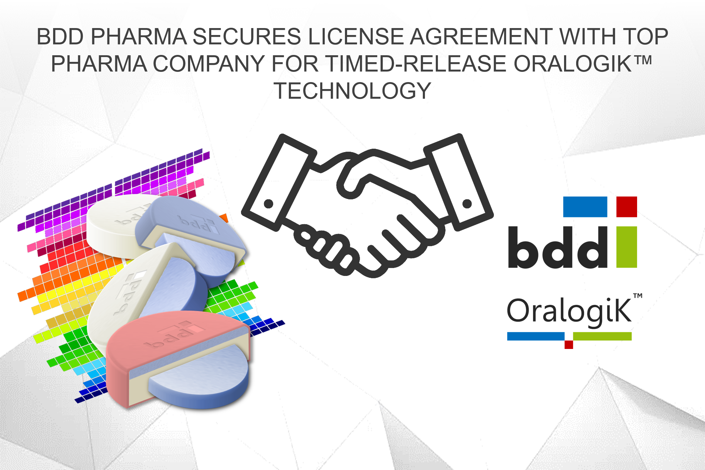 Bdd Pharma Secures License Agreement With Top Pharma Company For