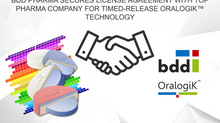 BDD Pharma secures license agreement with top pharma company for timed-release OralogiK™ technology