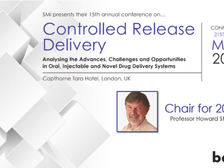BDD Chairman to joint chair SMI - Controlled Release Delivery conference
