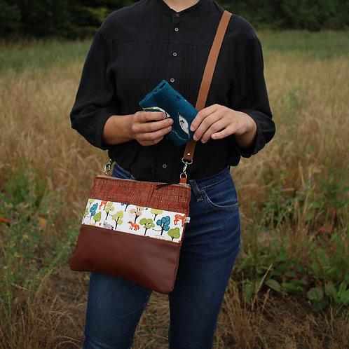 Grand sac pochette renards