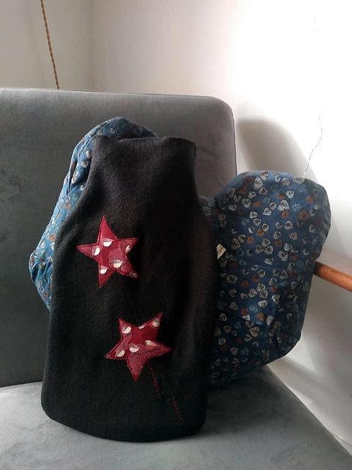 Bouillotte noir étoiles Pious