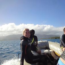 Sabine scuba diving Tahiti | French Polynesia