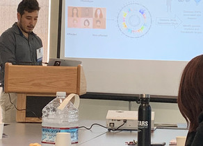 Linda Reyna and Nathan Rizo present their research at the UC San Diego Summer Research Conference