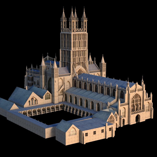 3d Low Poly Gloster Cathedral
