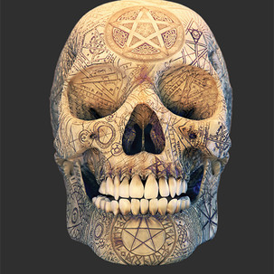 Black Magic Skull