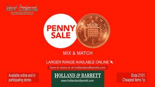 Holland & Barrett Penny Sale 2020