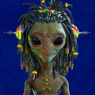Alien Dreads Selfie