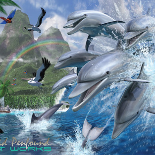 Dolphin Surf Landscape