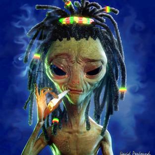 Alien Raster Smokin' V2