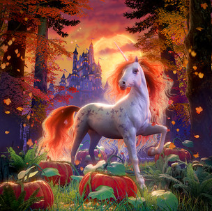 Unicorn Of The Harvest Moon