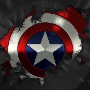 Captain America Shield Break Throughh