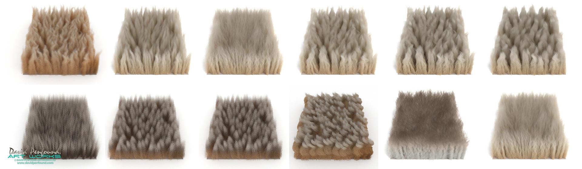 Fur swatch testing