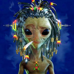 Alien Dreads Smokin'