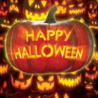 Happy Halloween Pumpkin Wall
