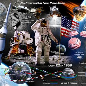 Apollo 11 50th Aniversary Puzzle Art