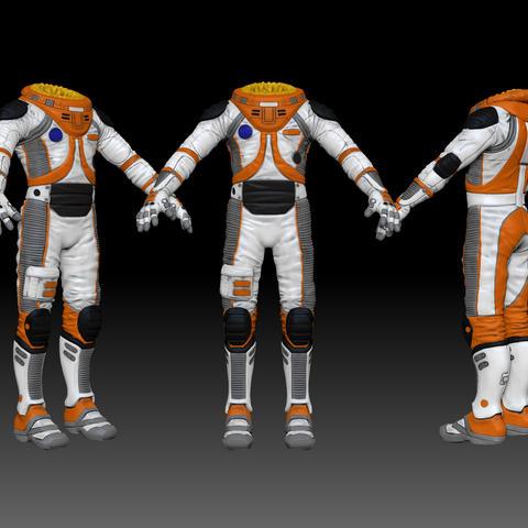Build a space suit slimsuit