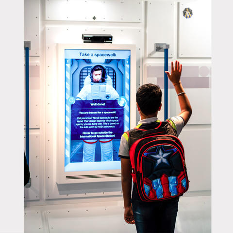 Take a space walk Exhibit